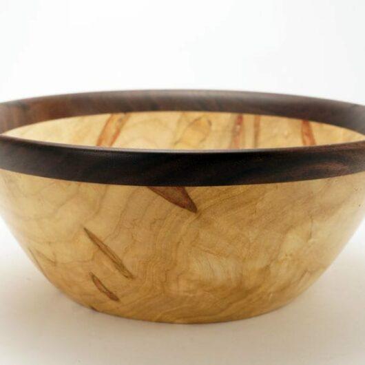Dewey Owl Box Elder-Walnut Bowl