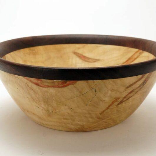 Dewey Owl Box Elder Walnut Bowl