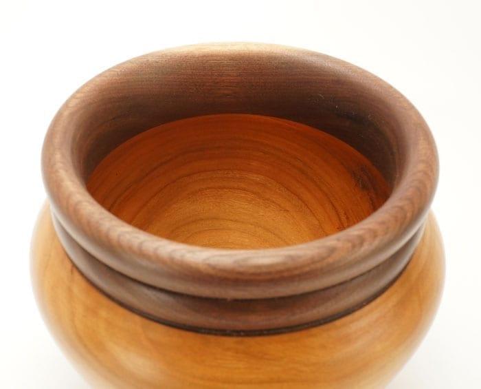 Dewey Owl Cherry Walnut Bowl