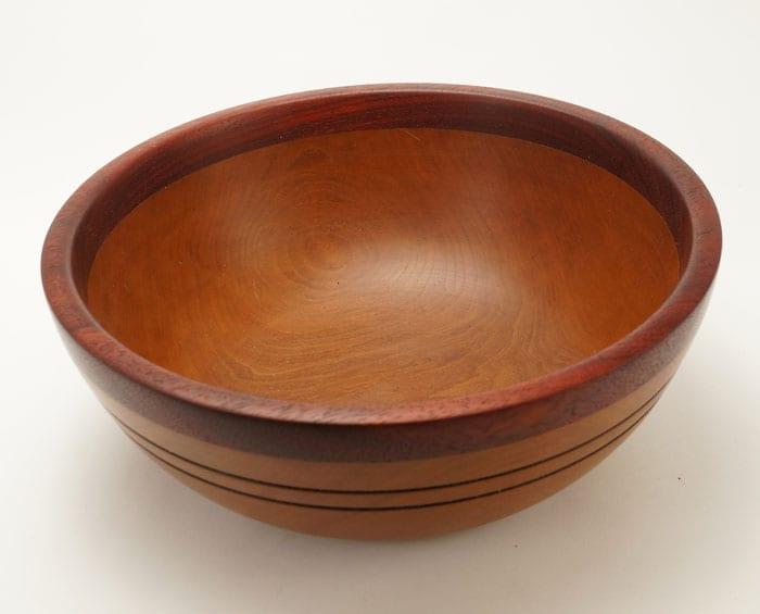 Dewey Owle Cherry Padauk bowl