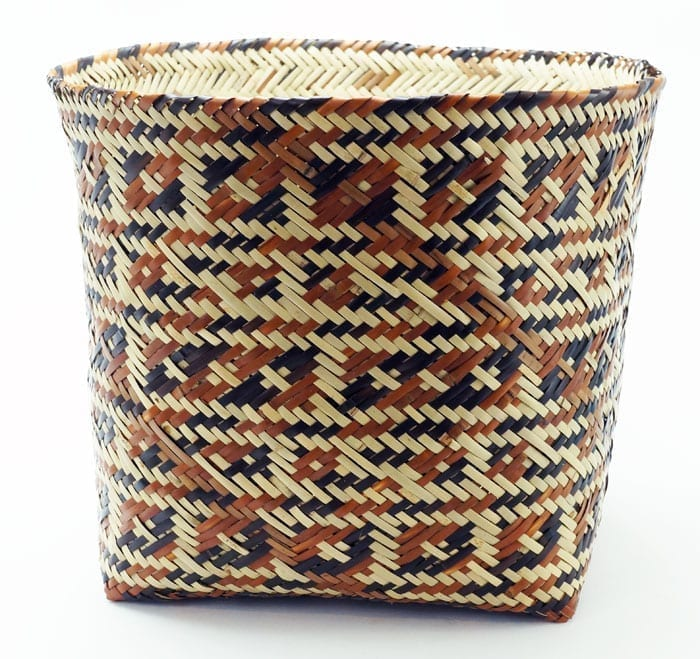 Ramona Lossie large round river cane basket