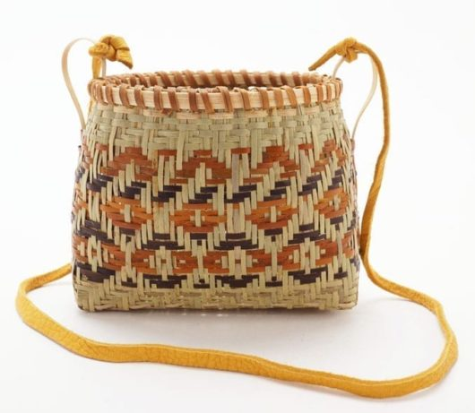 Ramona Lossie River Cane basket with strap