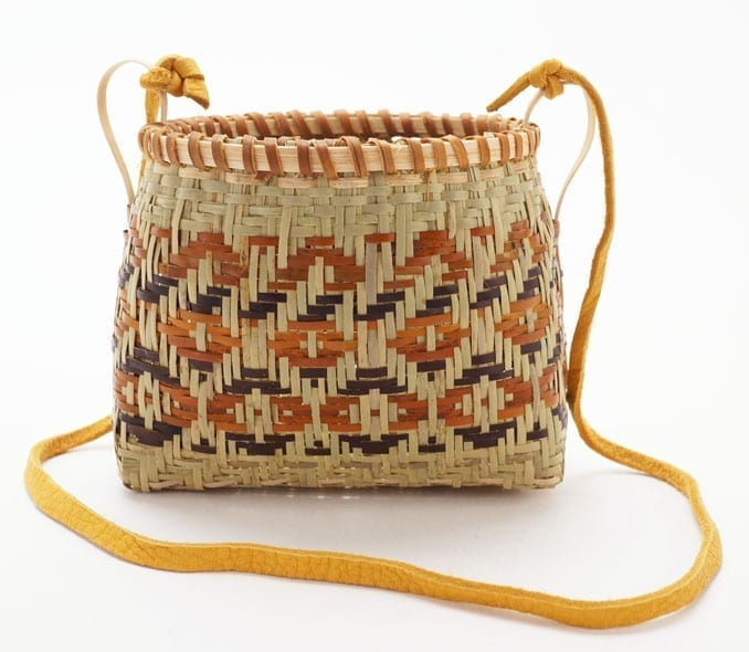 Ramona Lossie River Cane basket with strap