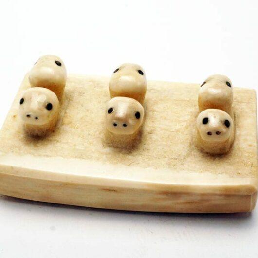 buy Six ivory seal heads