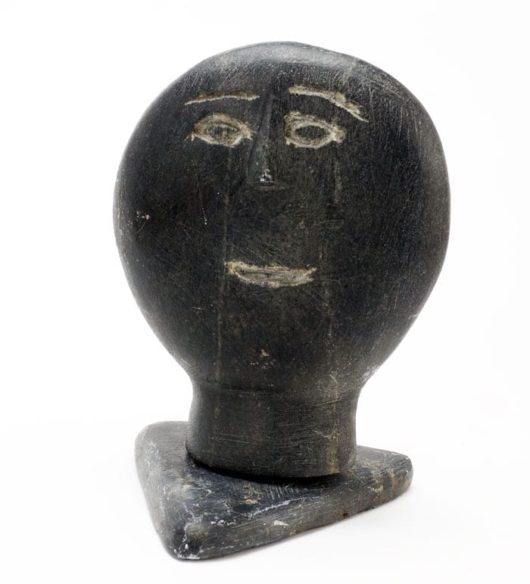 Inuit sculpture face
