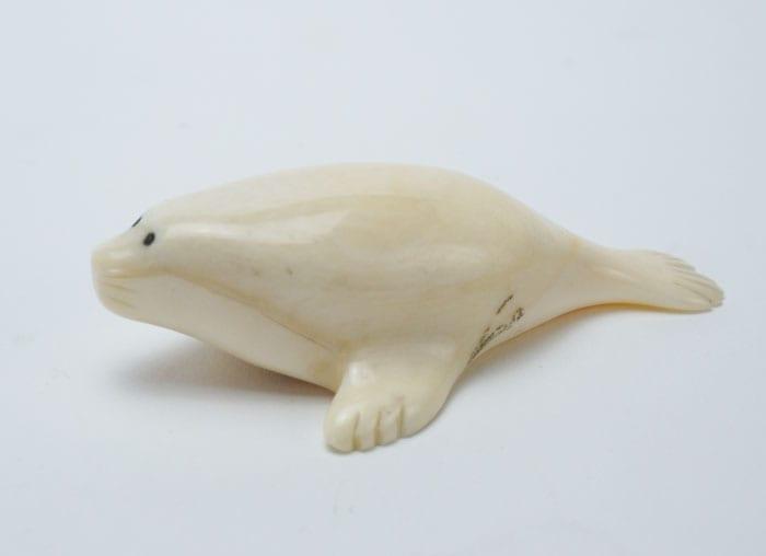 Vintage Eskimo ivory seal