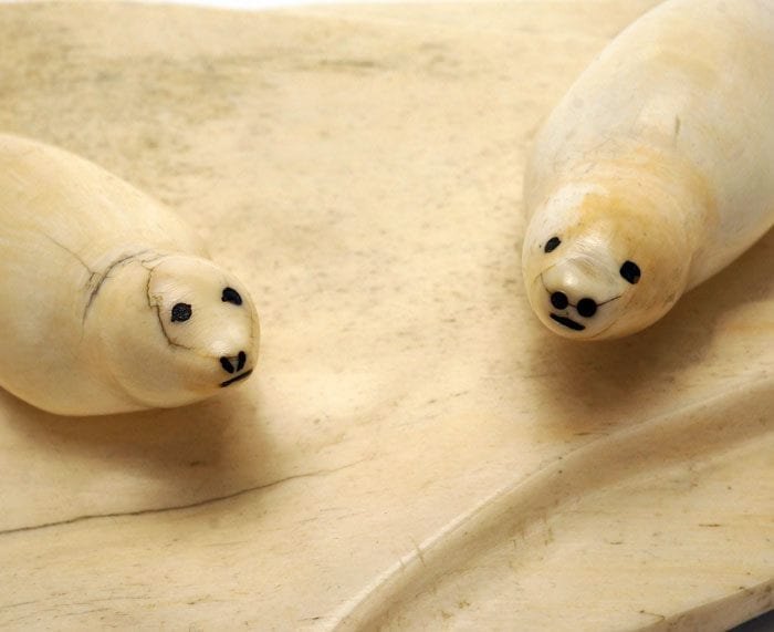 Vintage ivory seals heads