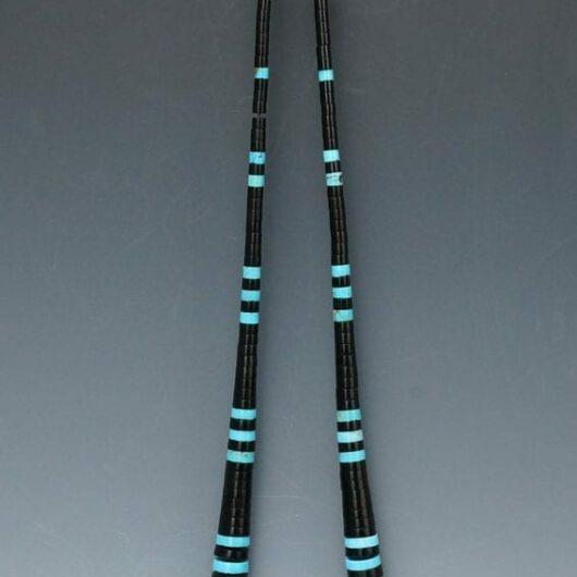 Priscilla Nieto turquoise-jet necklace