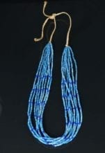 Priscilla Nieto eight strand lapis lazuli necklace