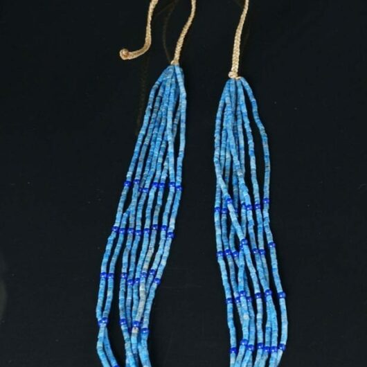 Priscilla Nieto eight strand lapis lazuli necklace
