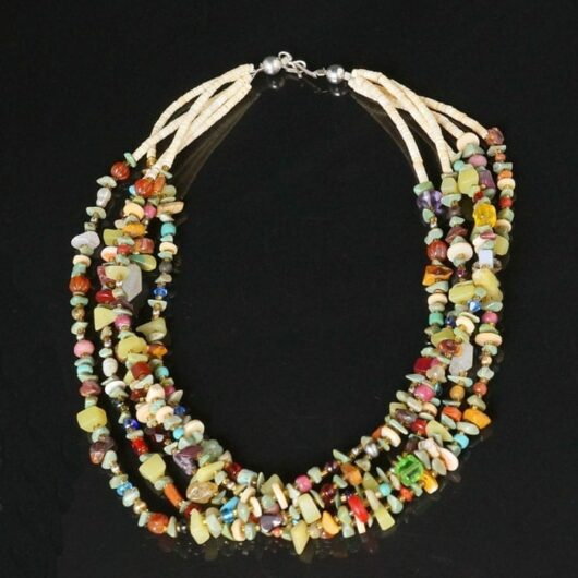 Sabrina Abeyta Multicolored Five Strand necklace