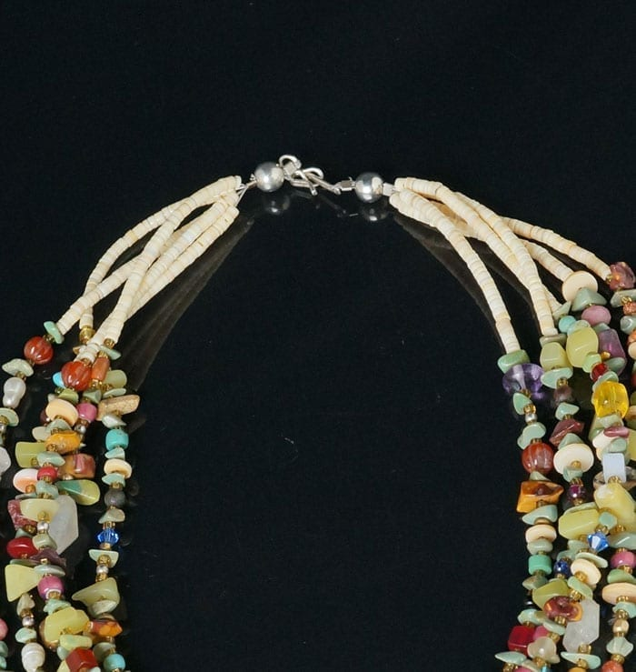 Buy Sabrina Abeyta Multicolored Five Strand necklace