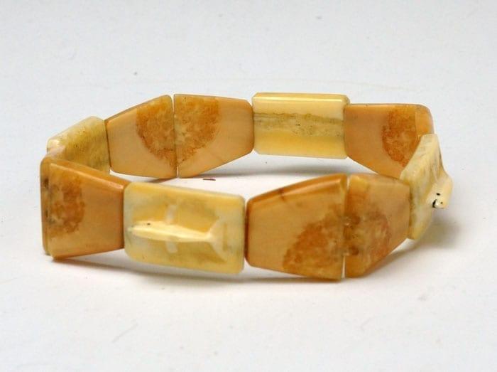 Vintage ivory whale bracelet