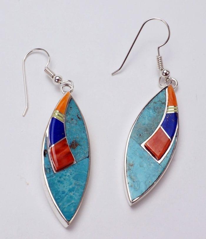 Earl Plummer two-level earrings