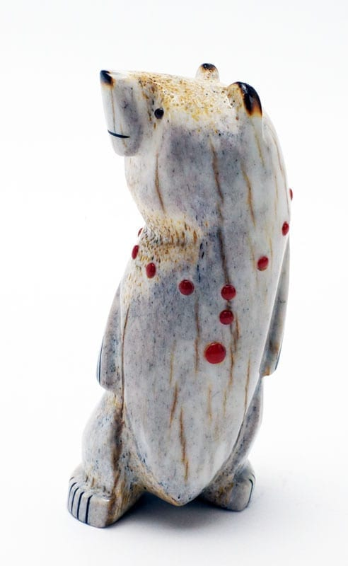Gabe Sice Antler Inlaid Standing Bear 2