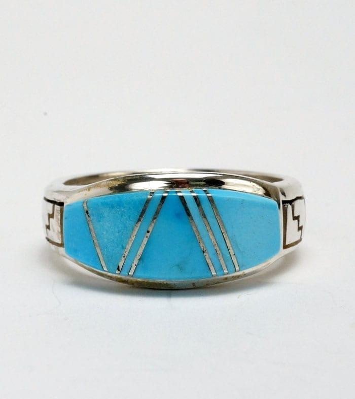 Earl Plummer natural turquoise rug design ring
