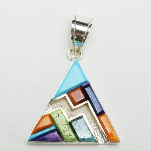 Earl Plummer Raised Multi Material Triangular Pendant Online