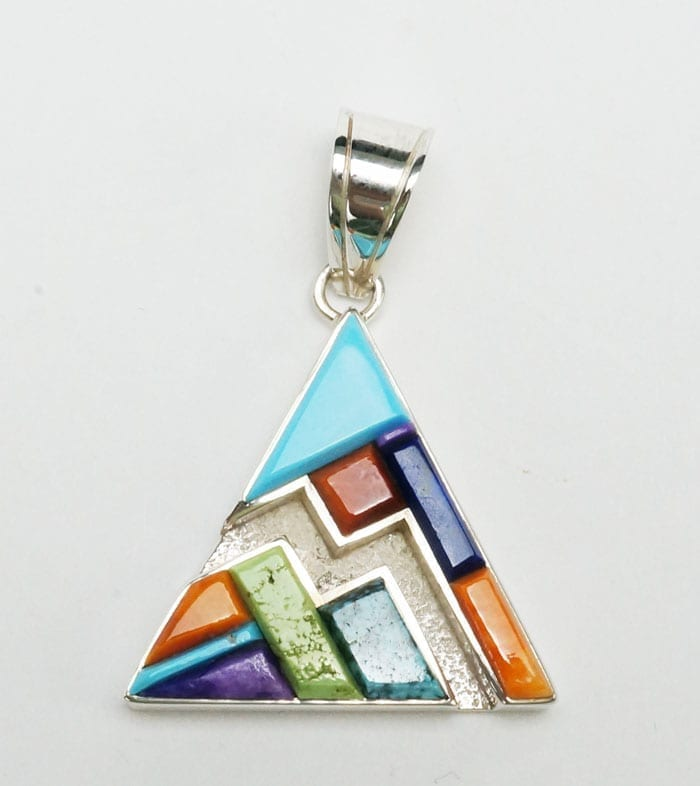 Earl Plummer Raised Multi Material Triangular Pendant Online