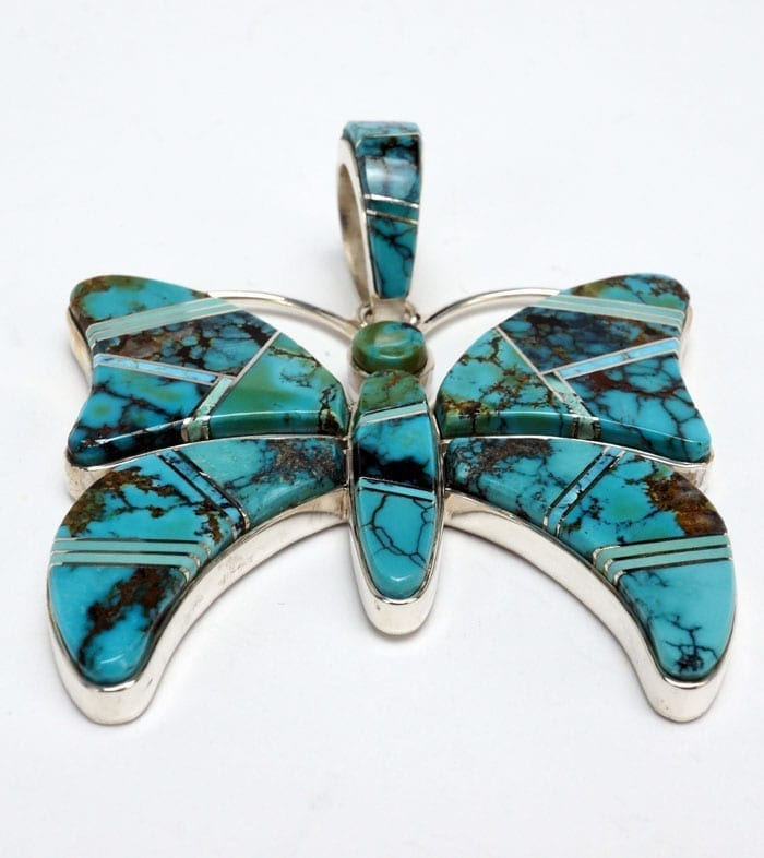 Earl Plummer inlaid turquoise butterfly