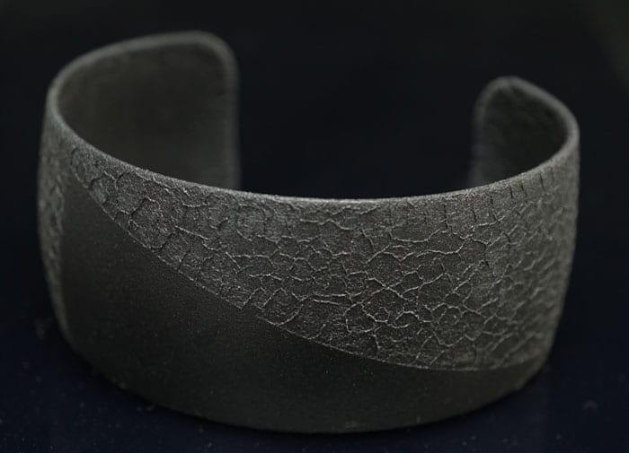 Margaret Jacobs Two-tone Black Cuff Bracelet 2