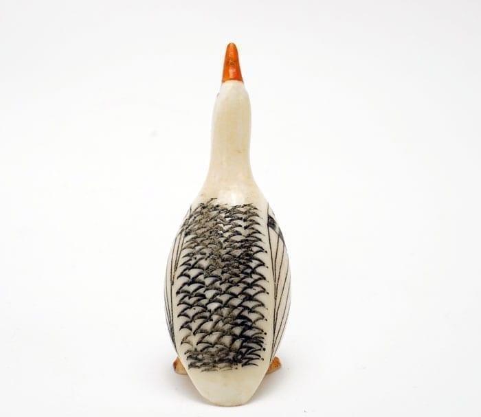 Vintage Scrimshaw Goose