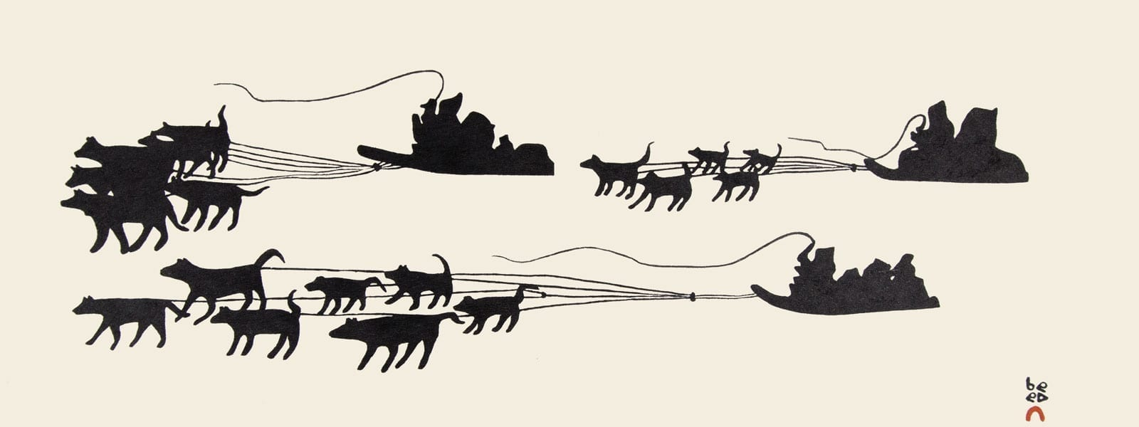 2018 Cape Dorset Print Collection Sled Team