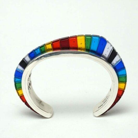 Adrian Wall Inlaid Glass Bracelet
