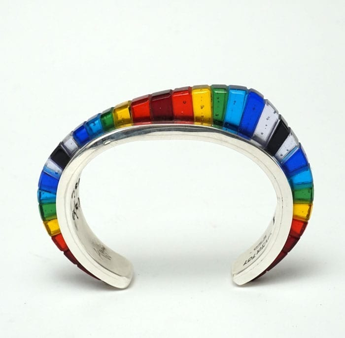 Adrian Wall Inlaid Glass Bracelet