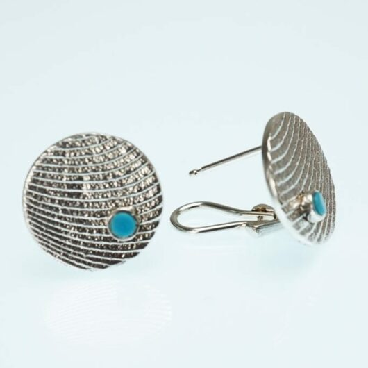 Althea-Cajero-sterling-silver-earrings-with-turquoise-SWJ01528-1
