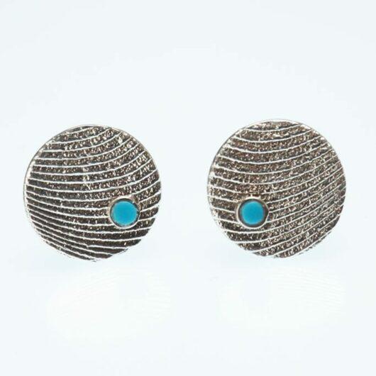 Althea Cajero Cuttlefish Cast Turquoise Earrings