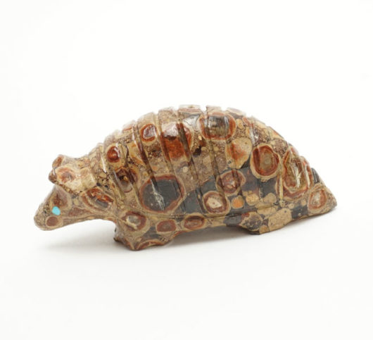 Avery Quam leopard stone armadillo