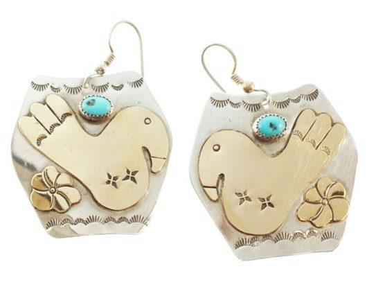 Sterling Silver/Gold Bird Earrings