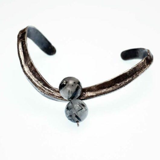 David Gaussoin Cast Sterling Silver Bracelet