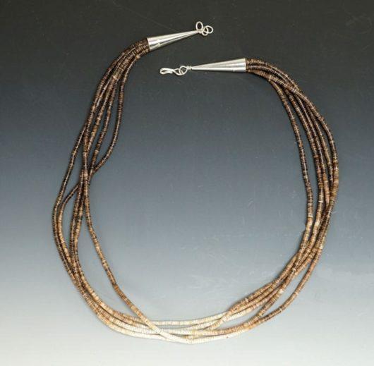 Deanna Tenorio Five Strand Shell Heishi Necklace
