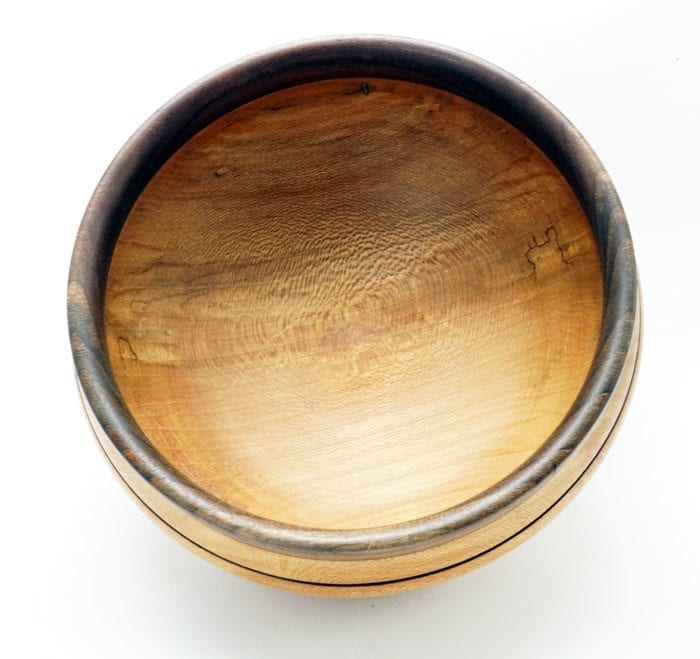 Dewey Owle sycamore-walnut bowl
