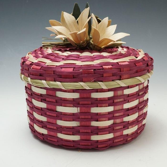 Dolly Barnes Red Flower Basket