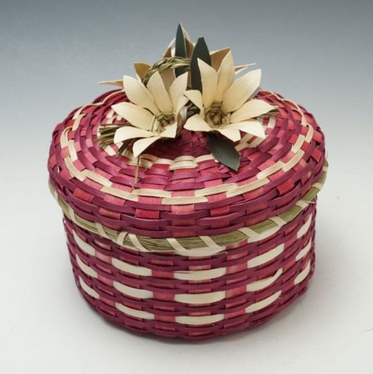 Dolly Barnes Red Flower Basket