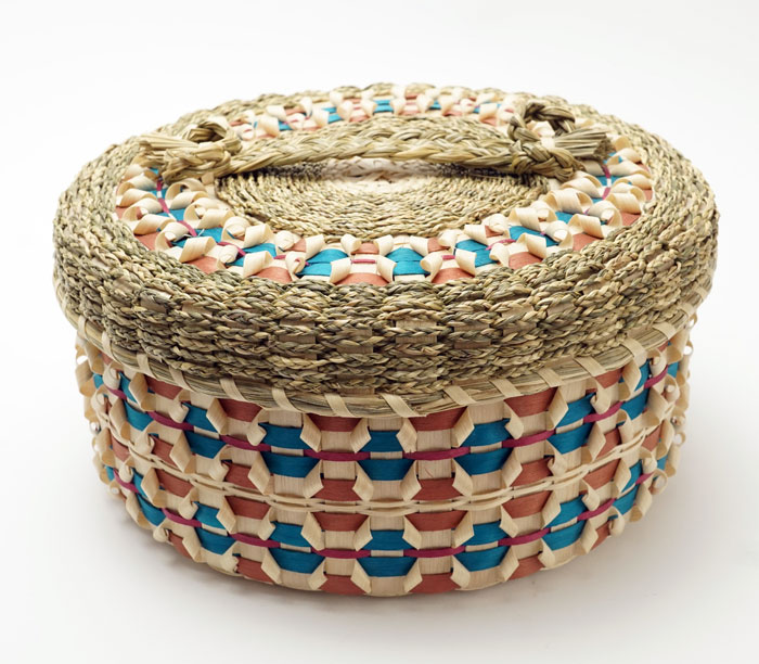 Frances Soctomah ribbon curl basket