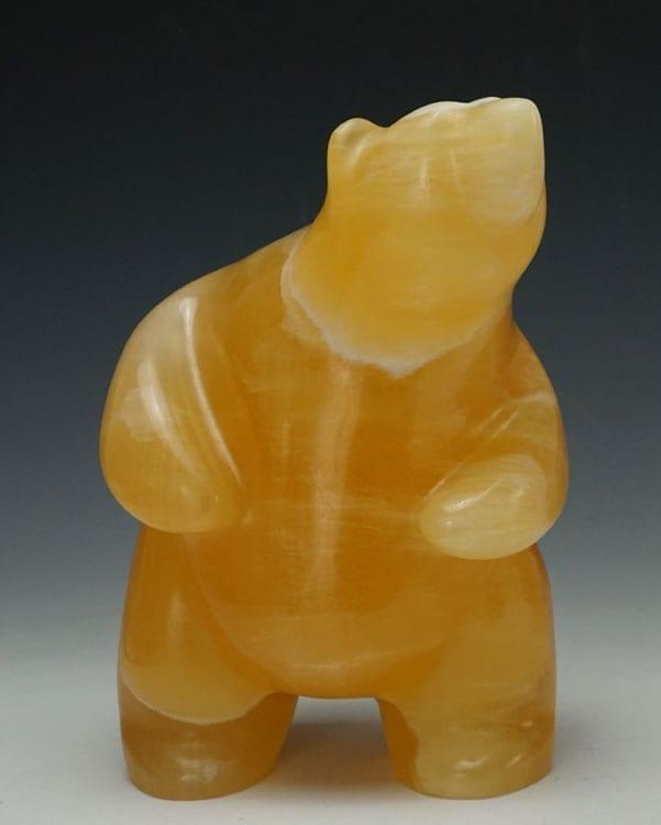Gabe Sice Honey Calcite Bear