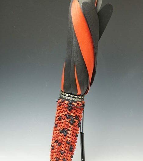 Ganessa Frey Red-Black Indian Corn Basket
