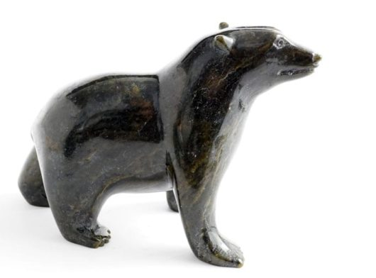 Inuit sculpture walking bear