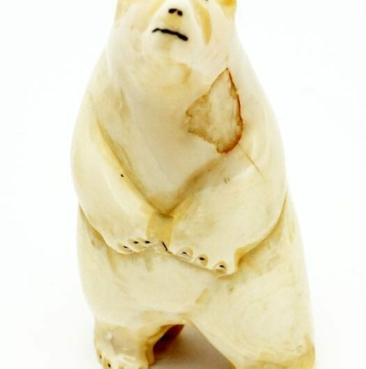 Vintage ivory standing bear
