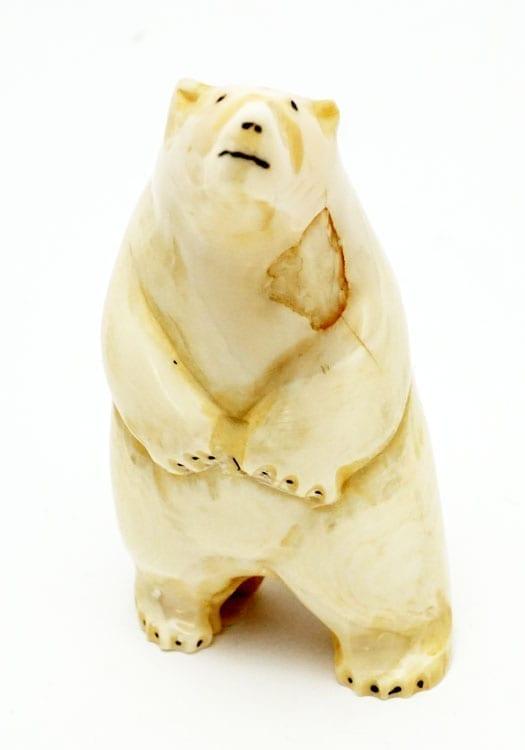 Vintage ivory standing bear