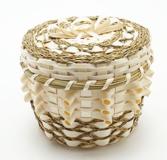 Kenny Keezer Natural Curl and Sweetgrass Basket