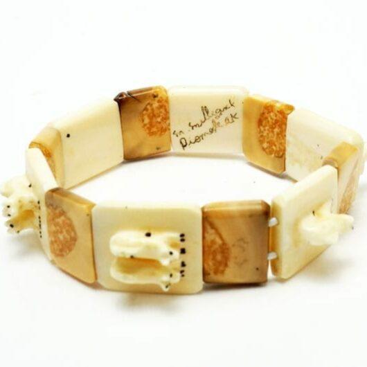 Lincoln Milligrock Ivory Sled Dog Team Bracelet
