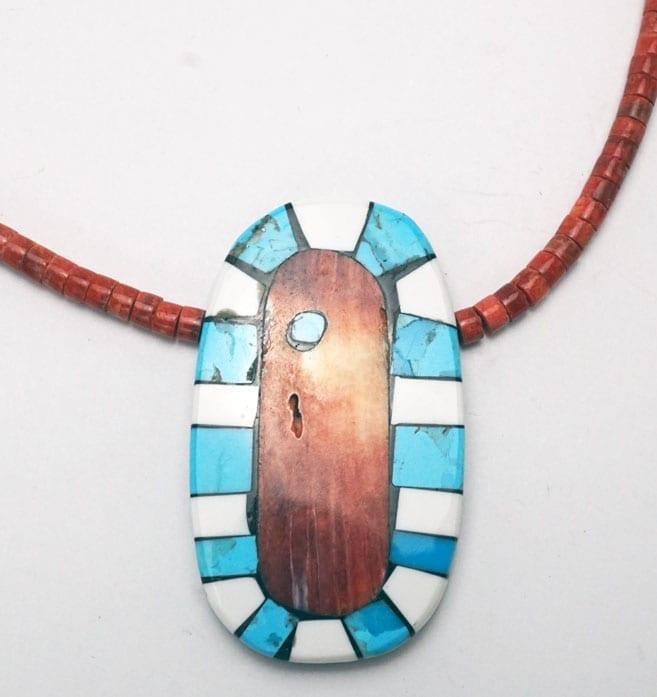 Mary Tafoya Spiny Oyster Shell Necklace