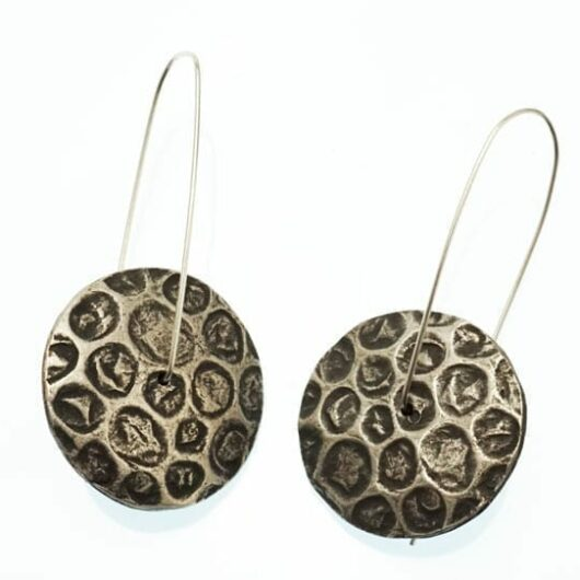 Suzanne Greenlaw Silver Patterned Earrings