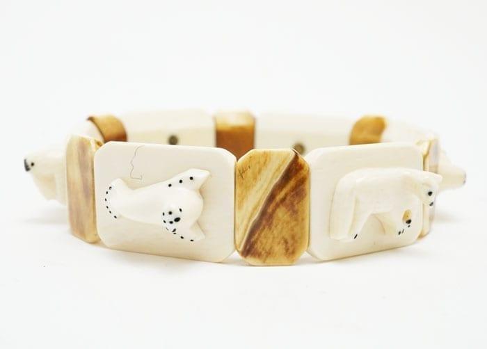 Vintage Ivory Bracelet - Separately Carved Animals