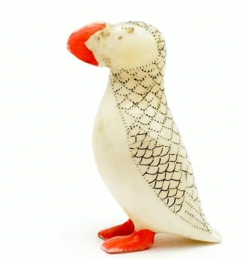 Vintage Ivory Puffin