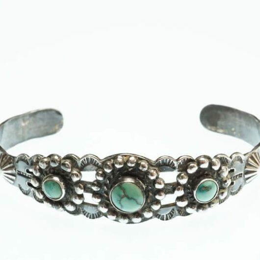 Vintage sterling silver turquoise bracelet